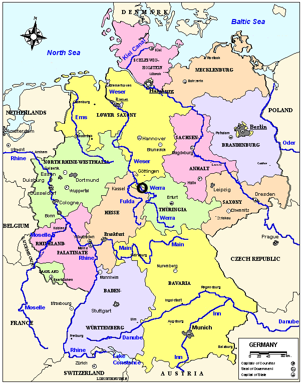 Germany Map English