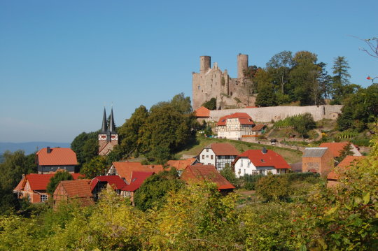 Hanstein castle and Rimbach village